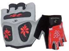 sport glove for road and mountian bike gloves 3 ways palm silicon printed pading
