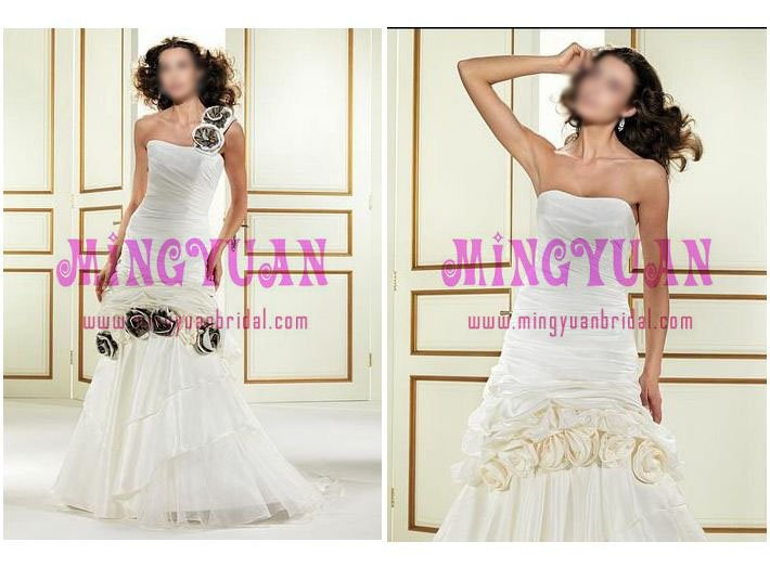 several handmade flowers suzhou wedding dress ek50