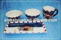 Christmas dinner set/bowl/25oz mug/tray
