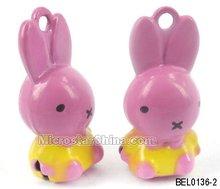 Cartoon Bell, Copper, Rabbit, 12*26mm, Hole: 2.0mm