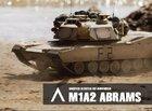 USA M1A2 model radio control plastic toy tank