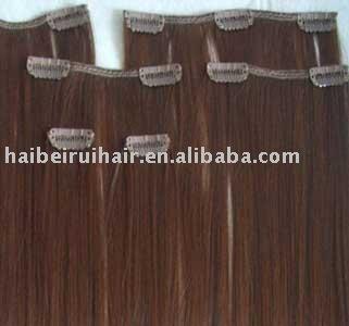 100 human hair clip in hair extension china  mainland