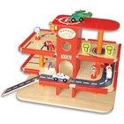 wooden garage toy,Wooden parking garage Toy.