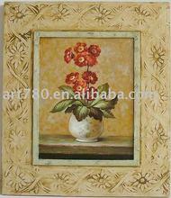 flower rose handmade oil painting,home decoration