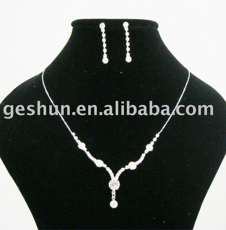 Vestido de noche de moda collares de la aleación collares pendientes de la joyería