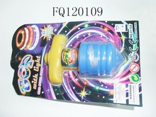 Flashing top, peg-top, spinning top