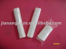 Gauze bandage with woven edges