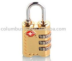 electroplated colour TSA padlock