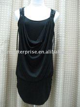 ladies' fashion T-shirt black