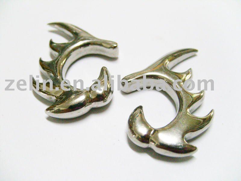 industrial piercing rings. makeup industrial piercing
