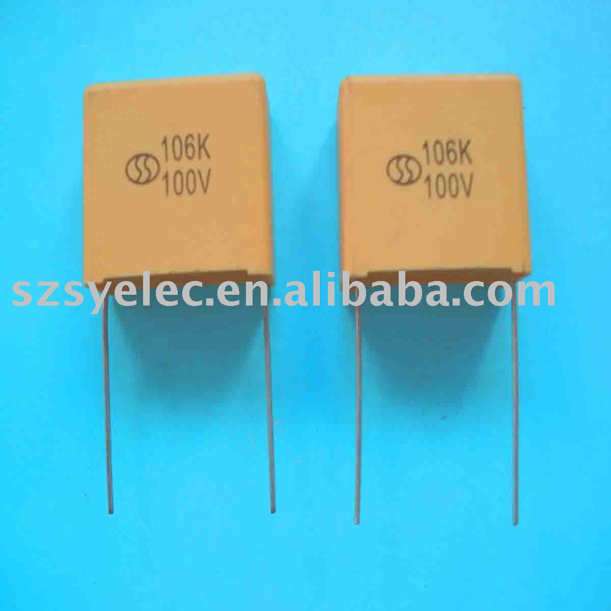 Metallized polyester film capacitor accessories box type CL2
