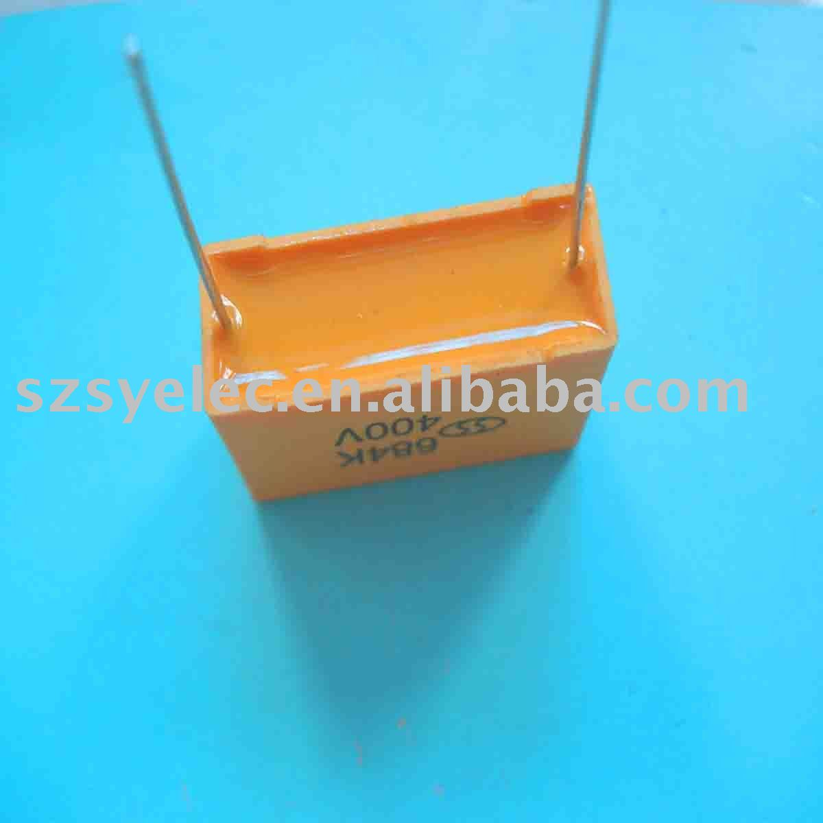 Metallized polyester film capacitor manufacturer box type CL