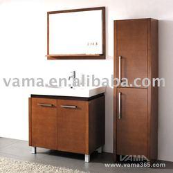 Simple design Storage wooden cabinets/modern solid wood bathroom cabinets unit/mirror cabinet/wooden furniture V-14056