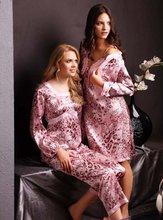 de las mujeres de moda pijama de seda yha045