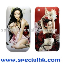 Sexy Tattoo Girl Ghost Baby painting case for iPhone 3G 4G