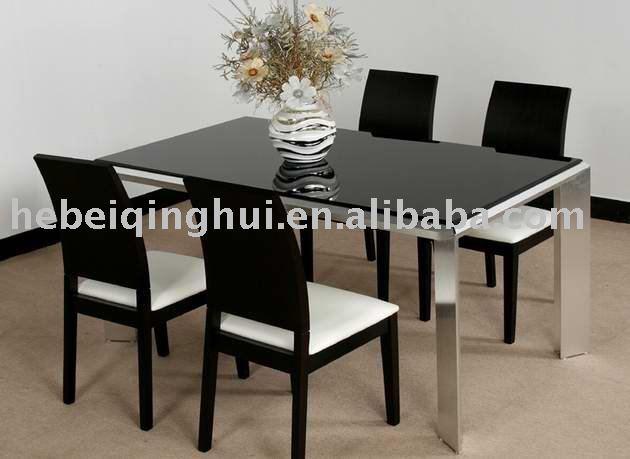 Nero moderno tavolo da pranzo e sedia tavolo da pranzo id for Sedia tavolo pranzo