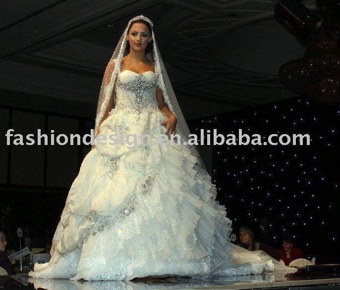 AWD117 2011 gorgeous lebanon dreaming muslim wedding dress