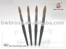 Baowang Black Wooden Handle Kolinsky Hair Acrylic Nail Art Brush(B1)