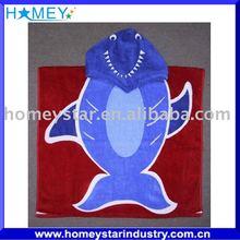 100% cotton velour reactive printed beach poncho towel
