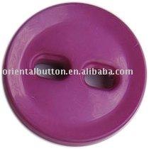 crimson 2-hole nylon button