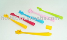 finger shape ball pen /soft pvc finger pen