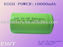 D10000mAh 1.2V rechargeable NIMH Battery