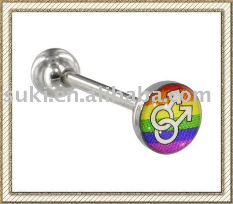 Fashion Body jewelry, Surgical Steel DOUBLE MALE SYMBOL Gay Pride ...
