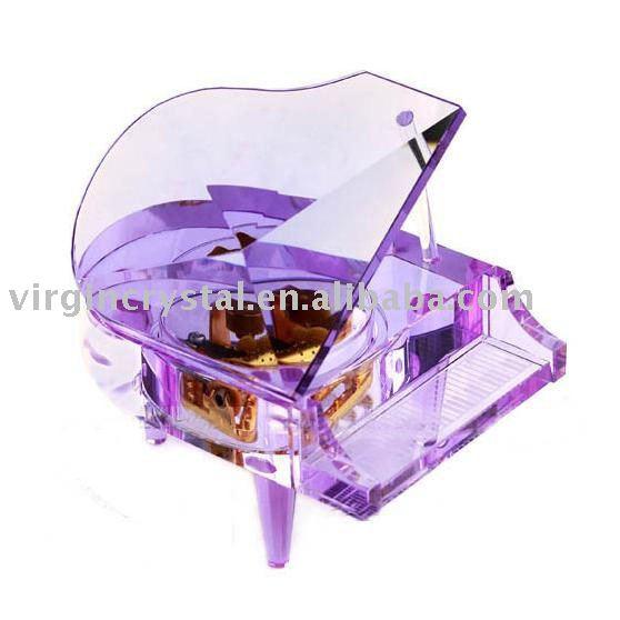Crystal Piano Music Box Wedding Gift Valentine 39s Day GiftPurple