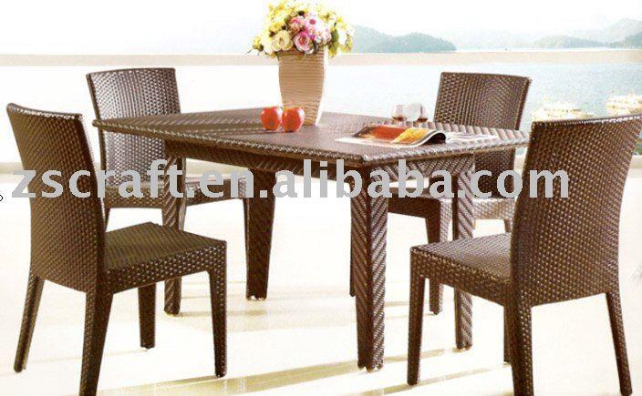 De cozinha de vime cadeira e mesa set conjuntos de m veis for Table basse en osier