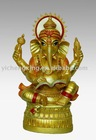 resin Gold Ganesh