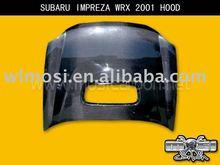 CAR BONNET CARBON FIBER HOOD FOR SUBARU IMPREZA WRX 2001 STYLE