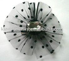 net fabric hair clip,hair ornament,hair accessory