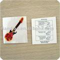 chitarra corpo tatuaggio adesivi