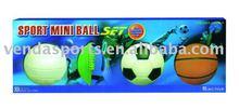 4 Assorted Sports Mini Ball Set