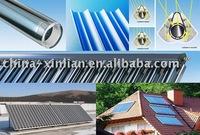three target vacuum tube,glass tube, solar tube