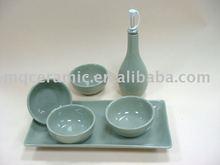 400ml ceramic glazed oil bottle set