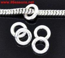 Silver Plated Closed Jump Rings. Fit Charm Bracelet & Links of Sweetie Bracelet 8mm