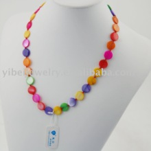 simple design of natural shell necklace jewelry