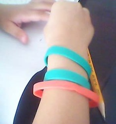 rubber band ,rubber bangles.