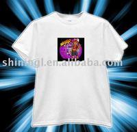 White LED t-shirt