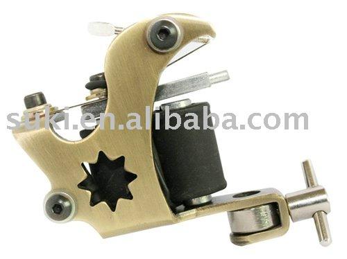 See larger image: tattoo gun, Small star gold tattoo machine