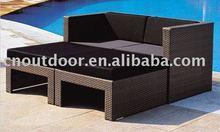 stylish outdoor rattan sofa or garden rattan sofa