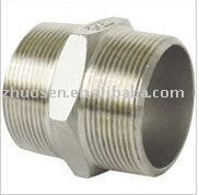 double male metal pipe fitting