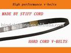 Stiff cord/hard cord V-belts