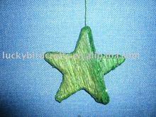 green tissue paper Foam star,D15cm