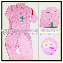100% cotton girl flannelette night suit