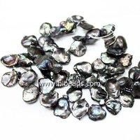 Freshwater keishi pearl 12mm black pearls LPS0463