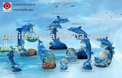 Polyresin dolphin oil burner, polyresin dolphin waterball, polyresin dolphin crystal ball