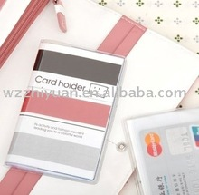 Multiple Name Card Case in Clear PVC Cover with Fast delivery time and low order quantity