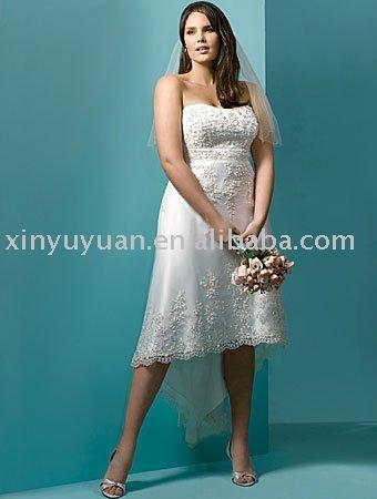 new designer plus size applique keen length destination wedding gowns AAP